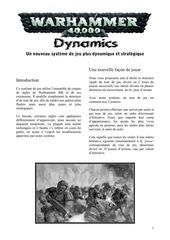 w40k dynamics