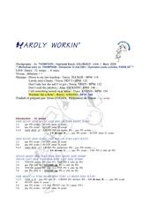 hardly workin