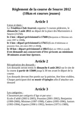 Fichier PDF reglement de la course de seurre 2012