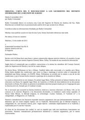 bouchacourt carta del p bouchacourt a los sacerdotes del distrito informando de la reunion de albano