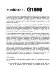 manifesto g1000 fr