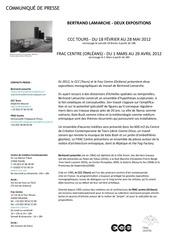 bertrand lamarche communique de presse ccc et frac centre 2012 1