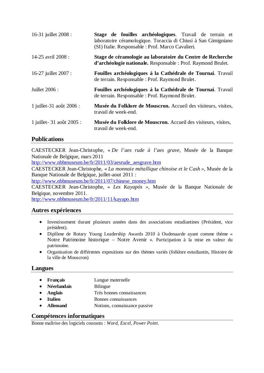 cv doc par admin - cv pdf