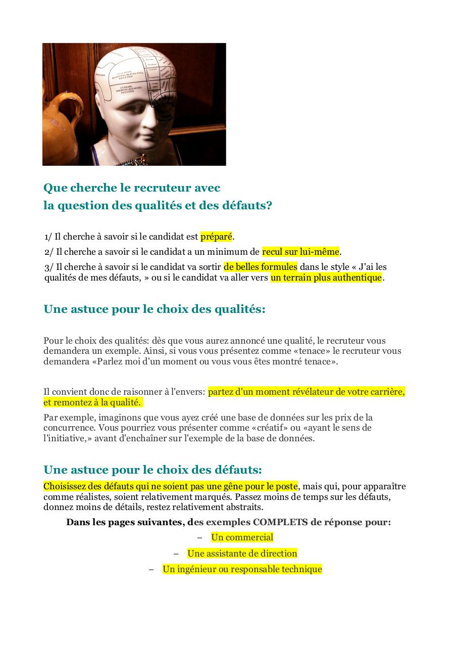 qualites et defauts  entretien d'embauche question piege.pdf - page 2/6