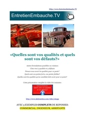 qualites et defauts entretien d embauche question piege