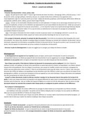 fiche methode 2 analyse de documents histoire