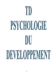 td psychologie du developpement