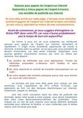 Fichier PDF apprendre a gagner de l argent avec la publicite sur internet fr