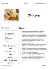 foie gras 2011
