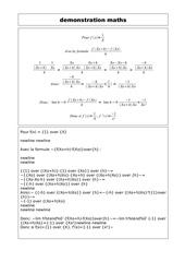 demonstration maths
