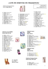 liste parfums 10 2011