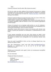 appel a solidarite oasis de lentiourel 22 novembre 2011