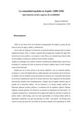 la comunidad espanola en argelia 1880 1930