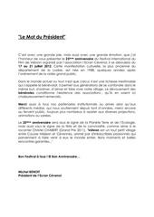 le mot du president 2012 1