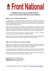 Fichier PDF marine le pen au banquet des mille paris liege oui aux violents non aux citoyens indignes