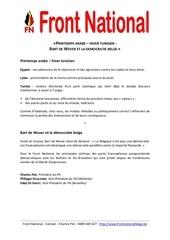 printemps arabe hiver tunisien bart de wever et la democratie belge