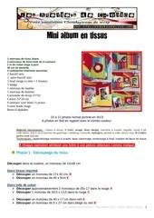 tuto mini album en tissus