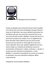 message aux fans de webserv