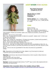 Fichier PDF adaptation robe olivia