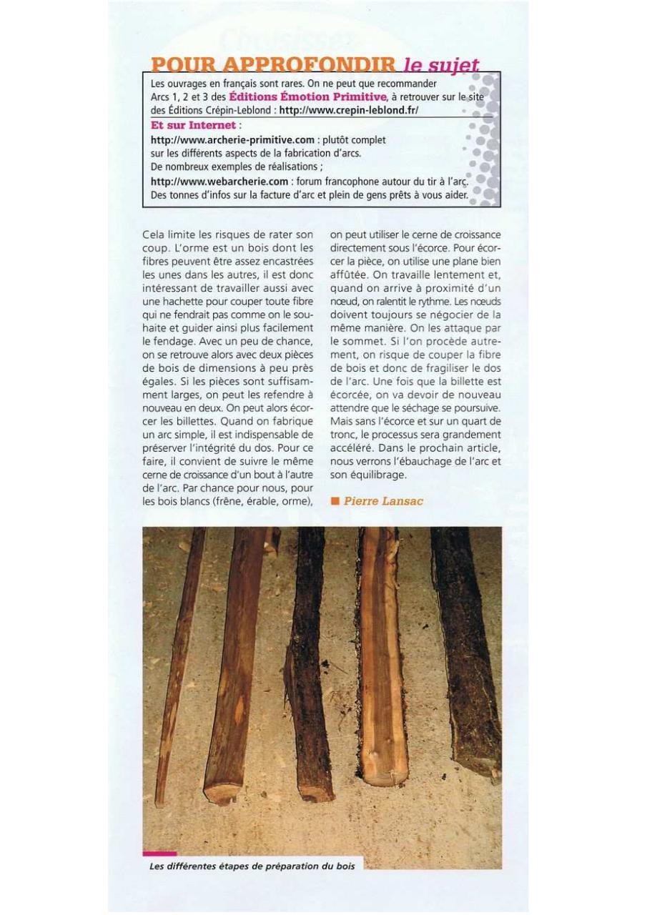 fabriquer un arc longbow par fichier pdf. Black Bedroom Furniture Sets. Home Design Ideas
