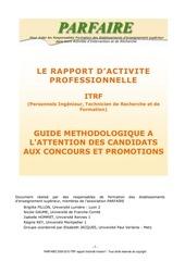 brochure rap activite 2010