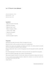 Fichier PDF calissons recette