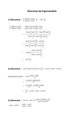 exercices trigonometrie