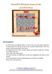 tutoriel pele mele photos scrap et textile par lolocreascrap