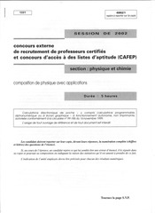 capesext composition de physique avec applications 2002 capes phys chm 1