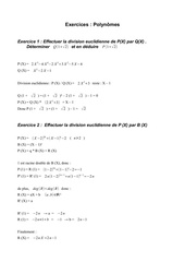 Fichier PDF exercices polynomes
