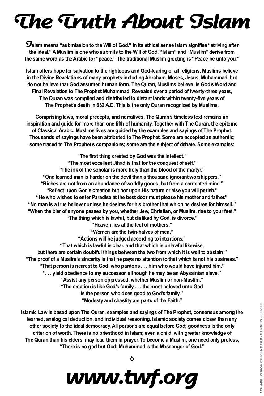 iCard: The Truth About Islam par Enver Masud - isl truth pdf