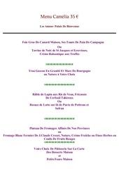 Fichier PDF menu camelia