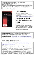 la nature de la croyance 1964