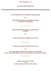 Fichier PDF menu marguerite