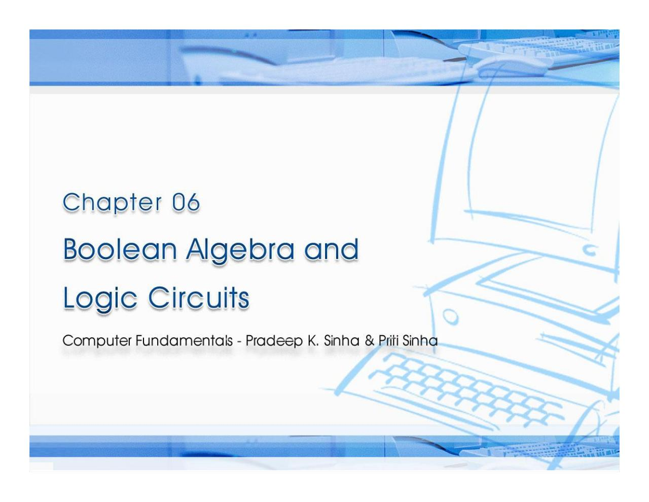 introduction to boolean algebra pdf