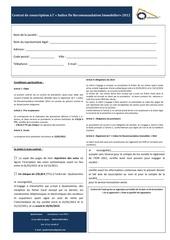 contrat de souscription idri