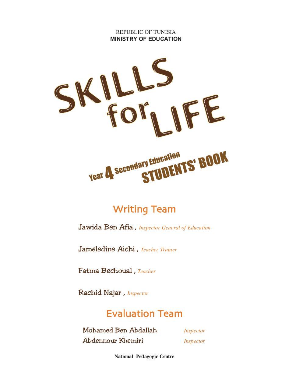 Skills 4 Life 1 32 Par Najoua Infos Livre Anglais Pdf