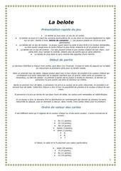 Fichier PDF la belote