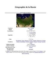 geographie russie