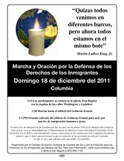 immigrant rights flyer spanish