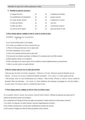 grammaire 6 le sujet page 1