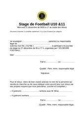 stage de football u10 5