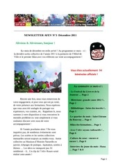 newsletter decembre