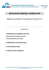 2011 reglementation power kite