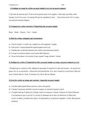 feuille exercices conjugaison 6 conjuguer a l imparfait et au passe simple cm2
