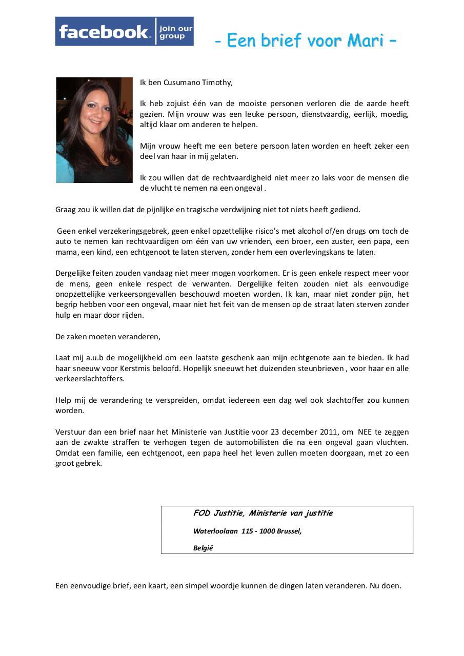 Een Brief Voor Marie Nl Par Cusumano Timothy Fichier Pdf