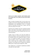 label comedie catalogue 2012