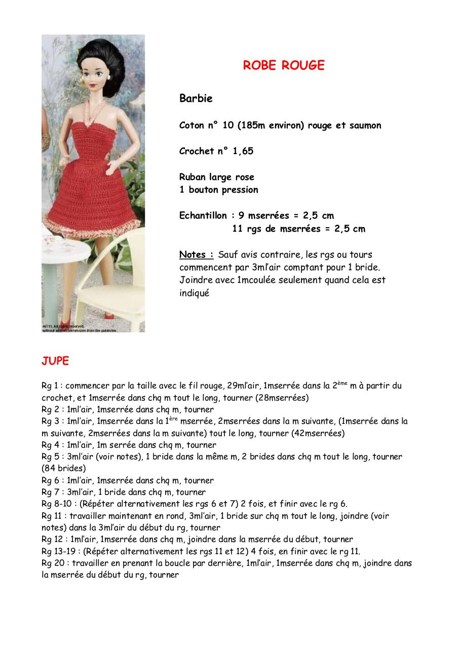 ROBE ROUGE Barbie.pdf - page 1/3
