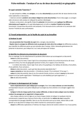 fiche methode analyse document geo