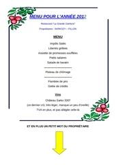 Fichier PDF menu saint sylvestre